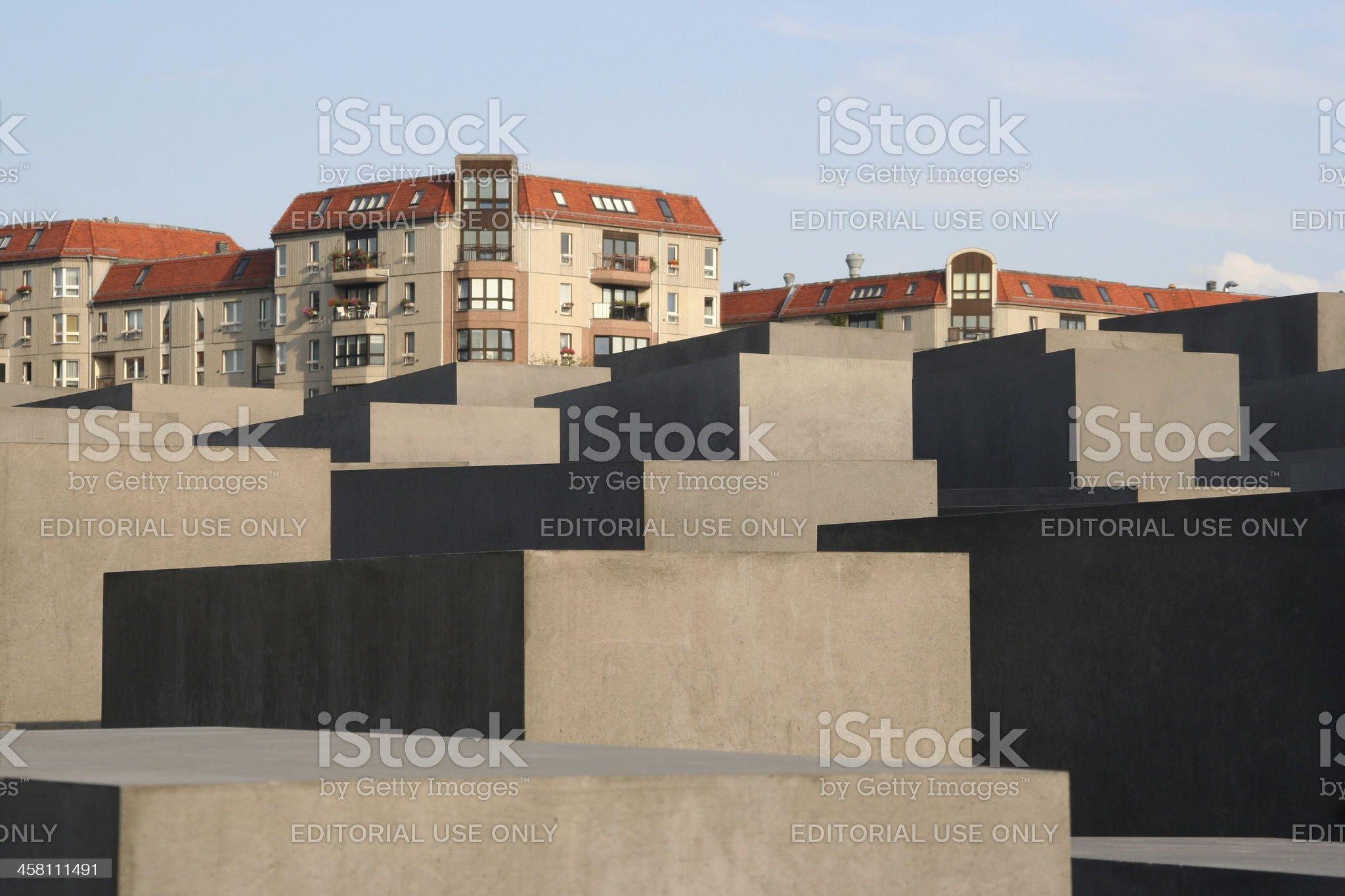 Holocaust Memorial in Berlin royalty-free stock photo