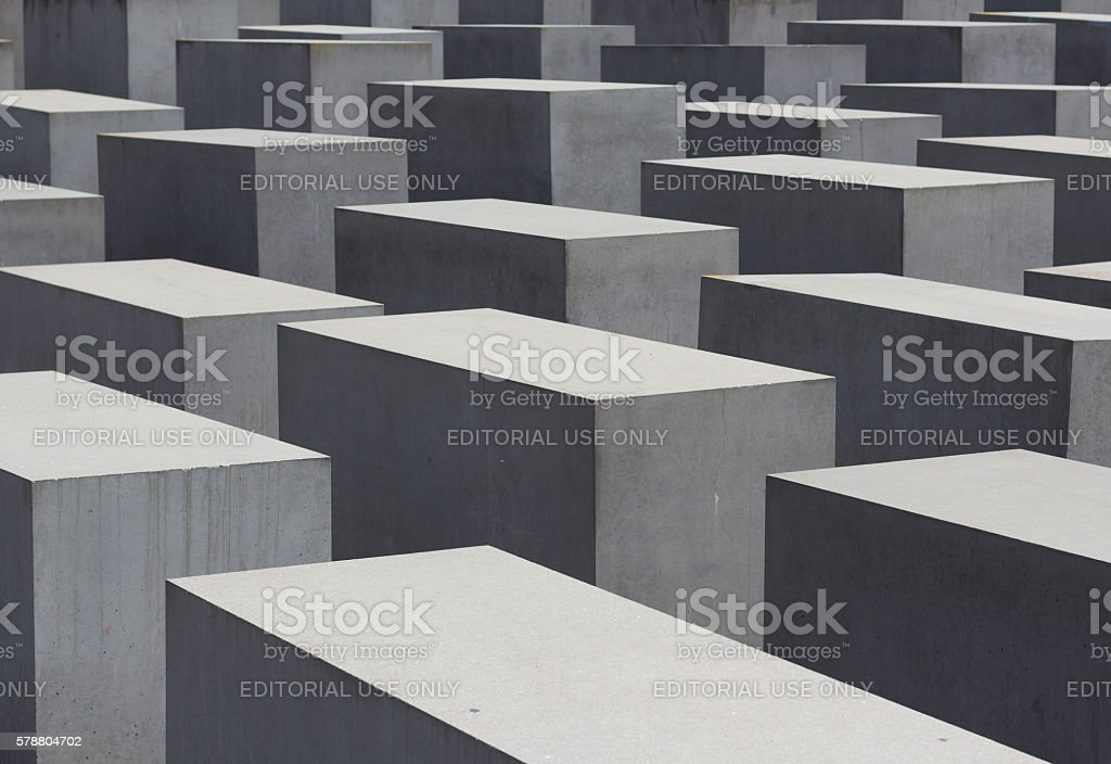 Holocaust memorial / jewish memorial in Berlin stock photo