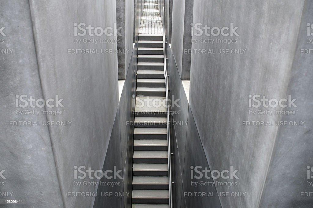 Holocaust memorial monument, Berlin, Germany royalty-free stock photo