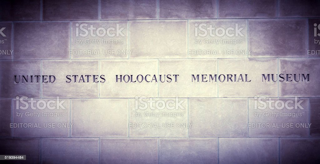 US Holocaust Memorial Museum Sign stock photo