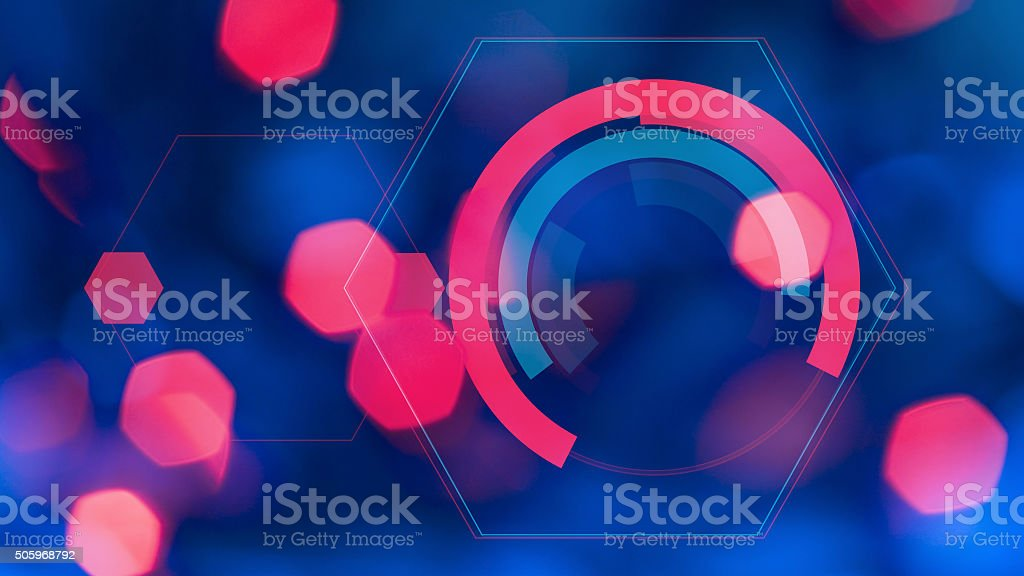 HUD hologram futuristic colorful abstract background stock photo