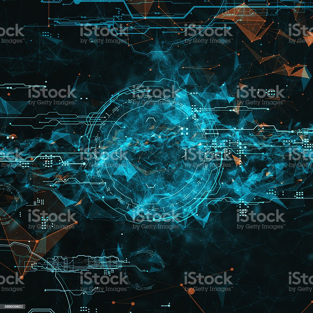 hologram futuristic interface stock photo