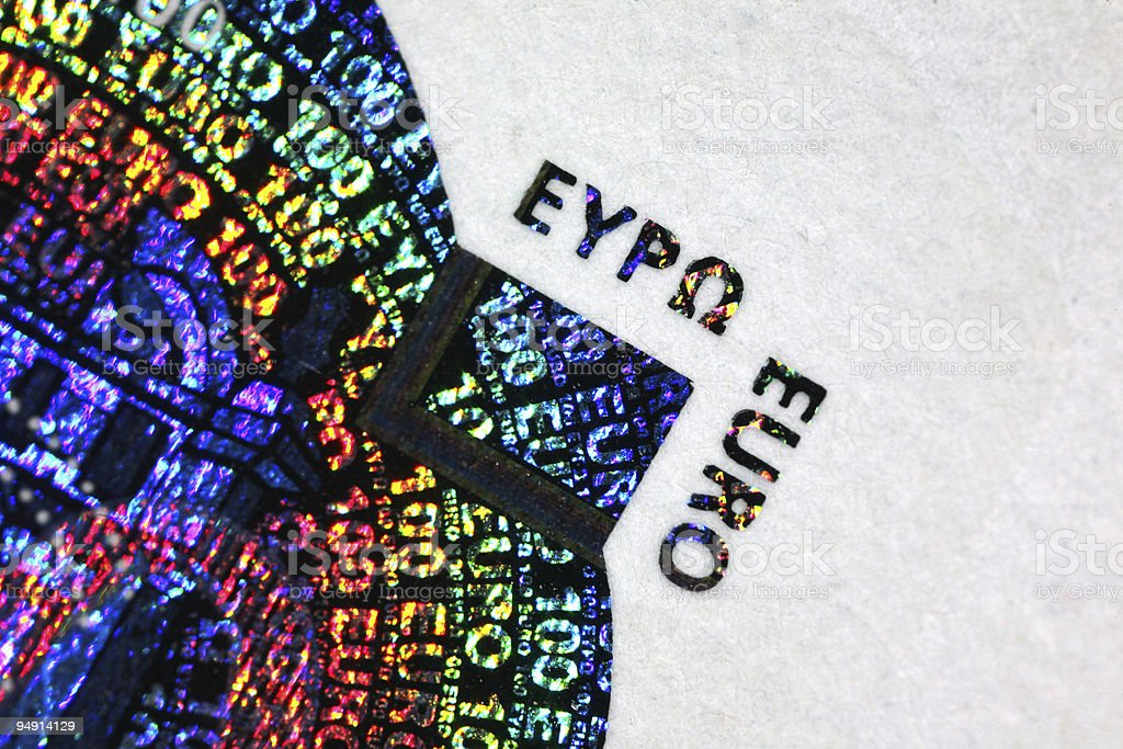 hologram on euro royalty-free stock photo