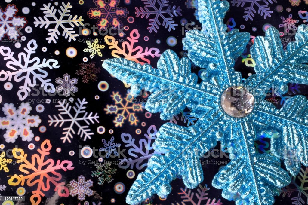 Holograms and Snowflake stock photo