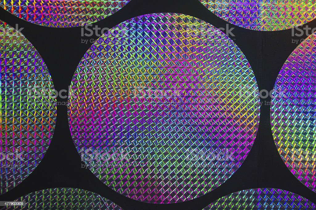holographic patterns stock photo