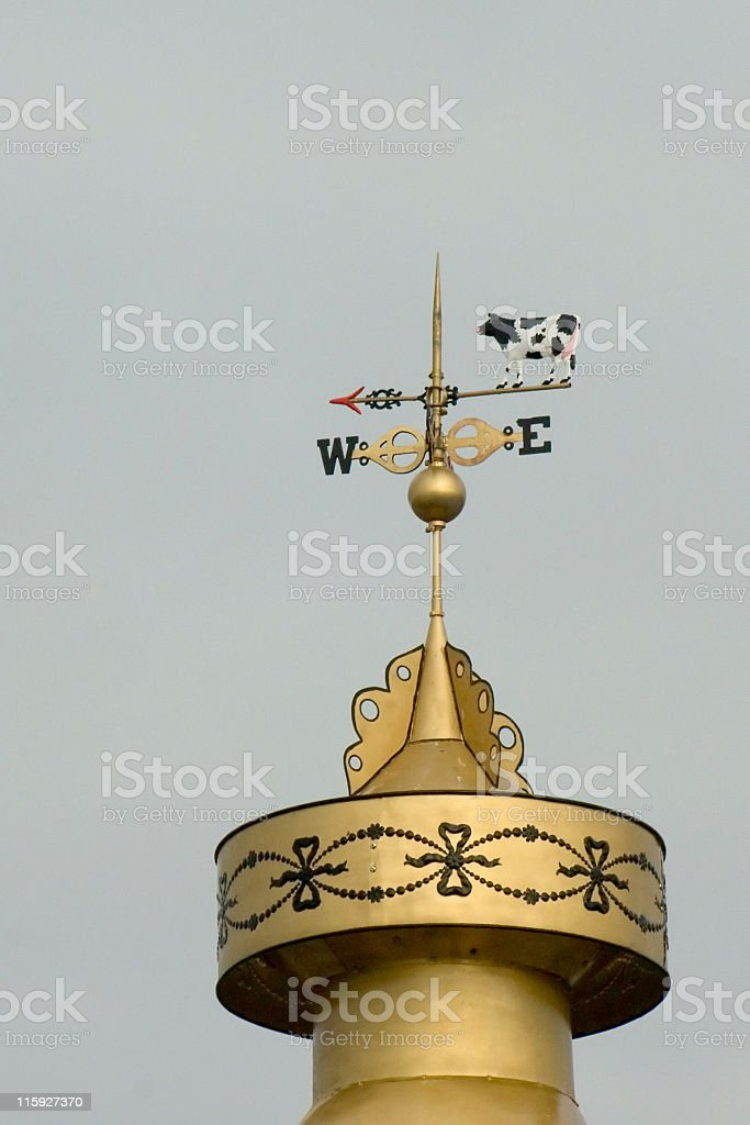 Holstein Weathervane stock photo