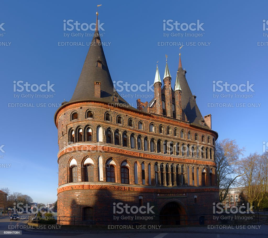 Holsten Gate in Lubeck, Germany stock photo