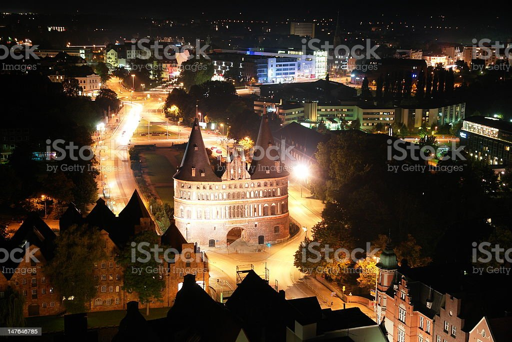 Holsten Tor in LAbeck stock photo