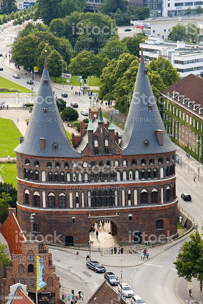 Holstentor in Luebeck, Germany stock photo