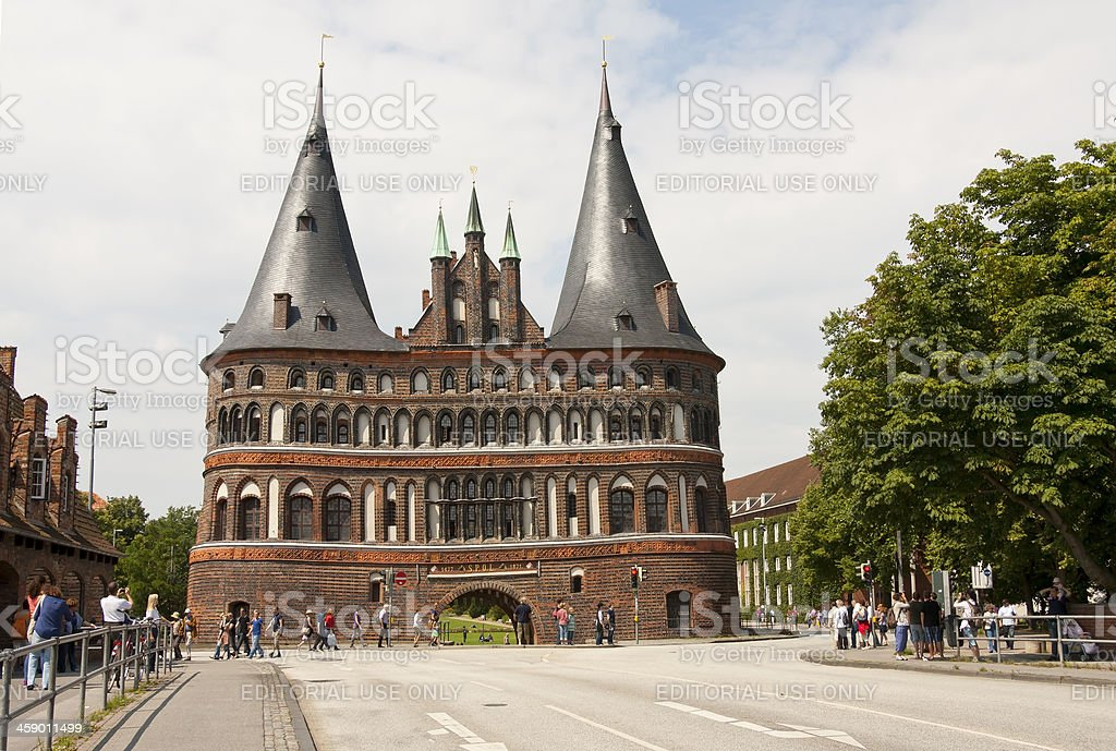 'Holstentor in Luebeck, Germany' stock photo
