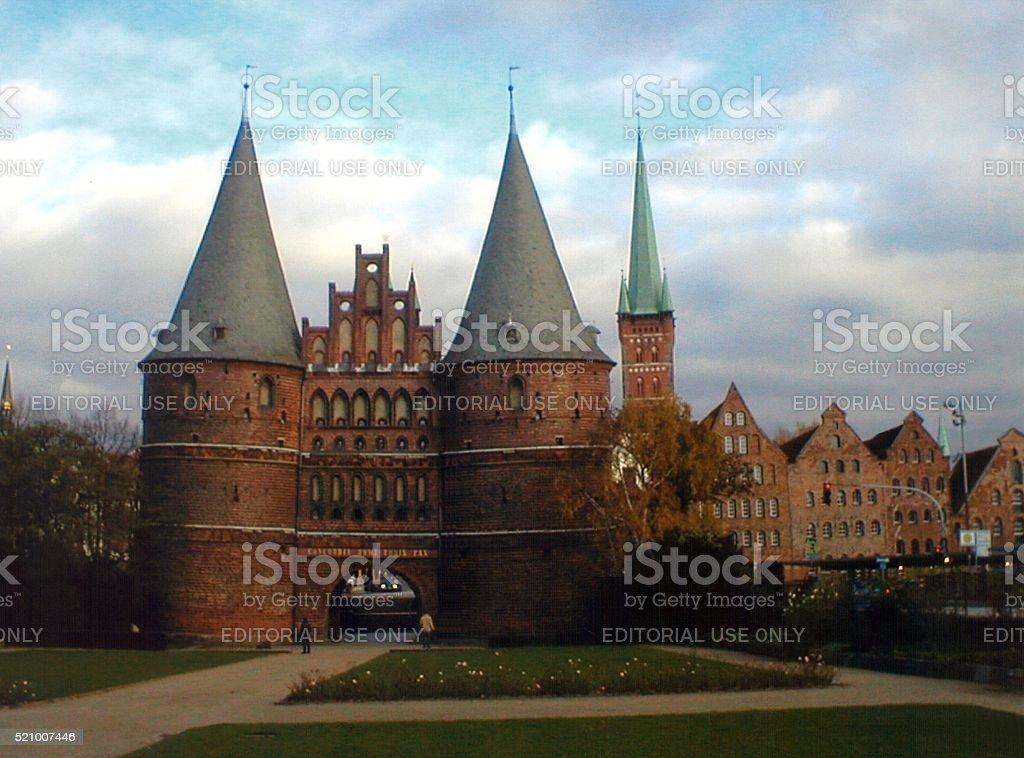 Holstentor, Lubeck, Germany stock photo