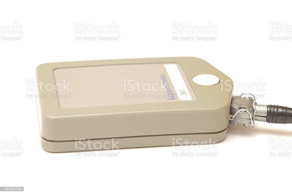 ECG holter monitor isolated stock photo