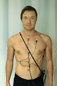Holter monitor on patient's chest