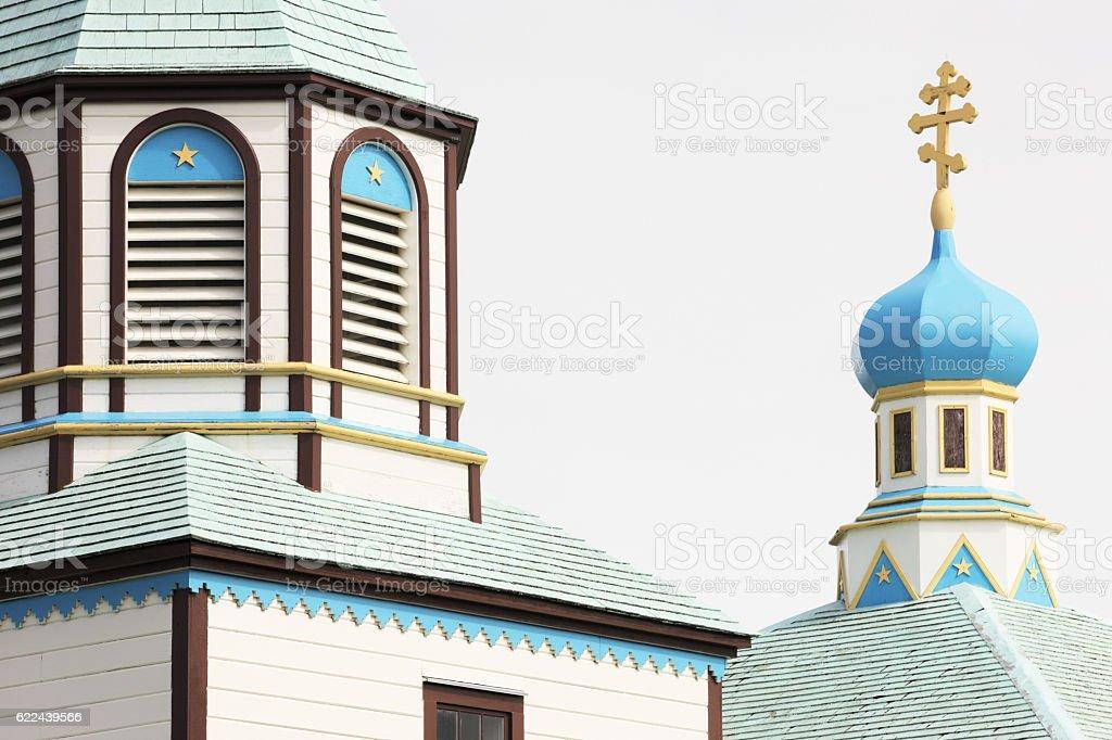 Holy Assumption Russian Orthodox Church Kenai stock photo