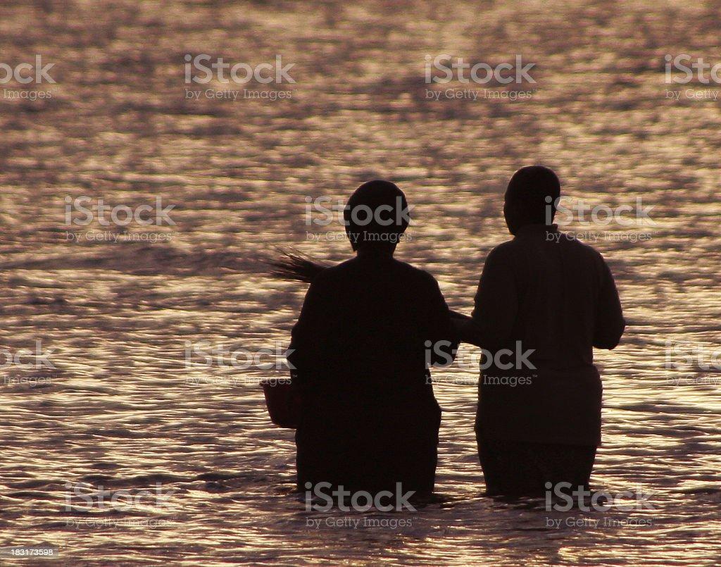 Holy baptism stock photo