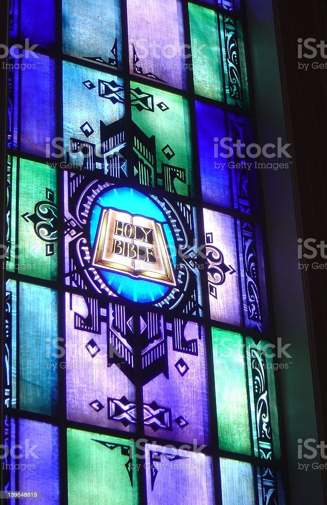 Holy Bible Glass stock photo