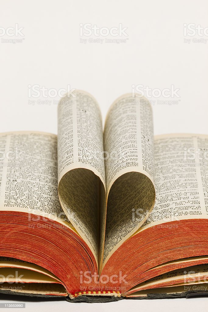 Holy Bible Heart royalty-free stock photo