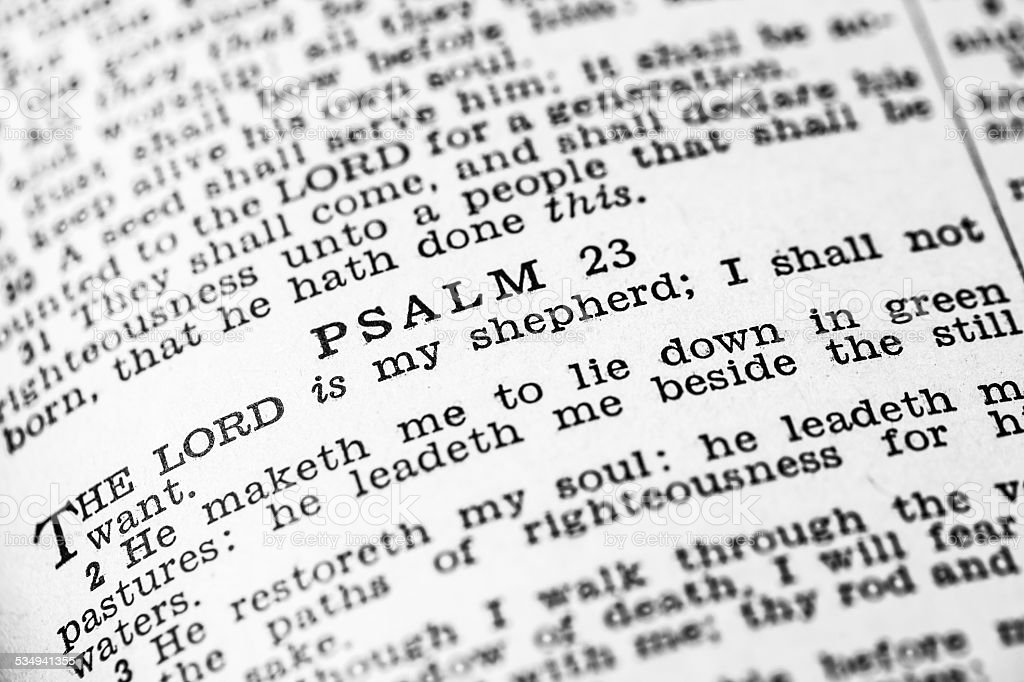 Holy Bible Psalms stock photo
