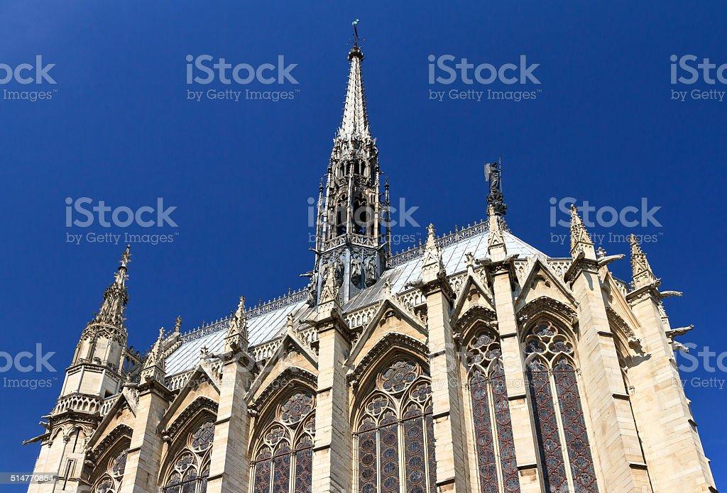 Holy Chapel exterior stock photo