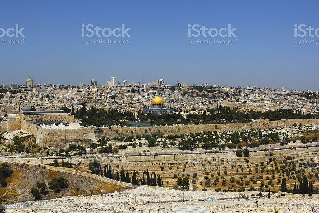 Holy City of Jerusalem royalty-free stock photo