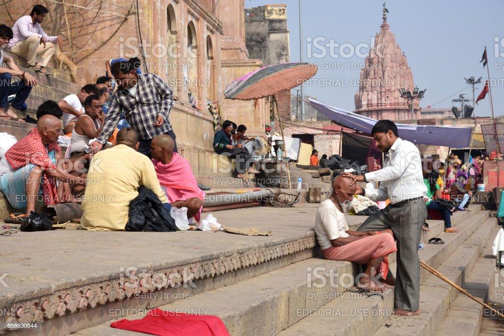 Holy city Varanasi,India stock photo