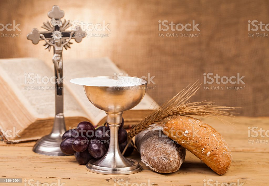 holy communion composition stock photo