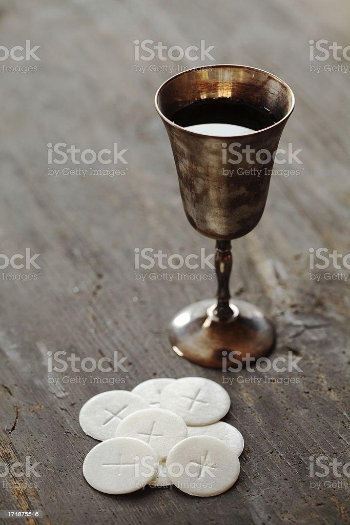Holy communion still life stock photo