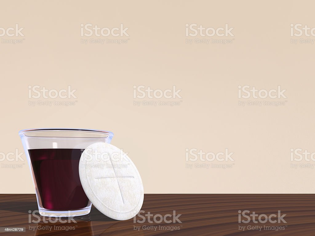Holy Communion with copy space royalty-free stock photo