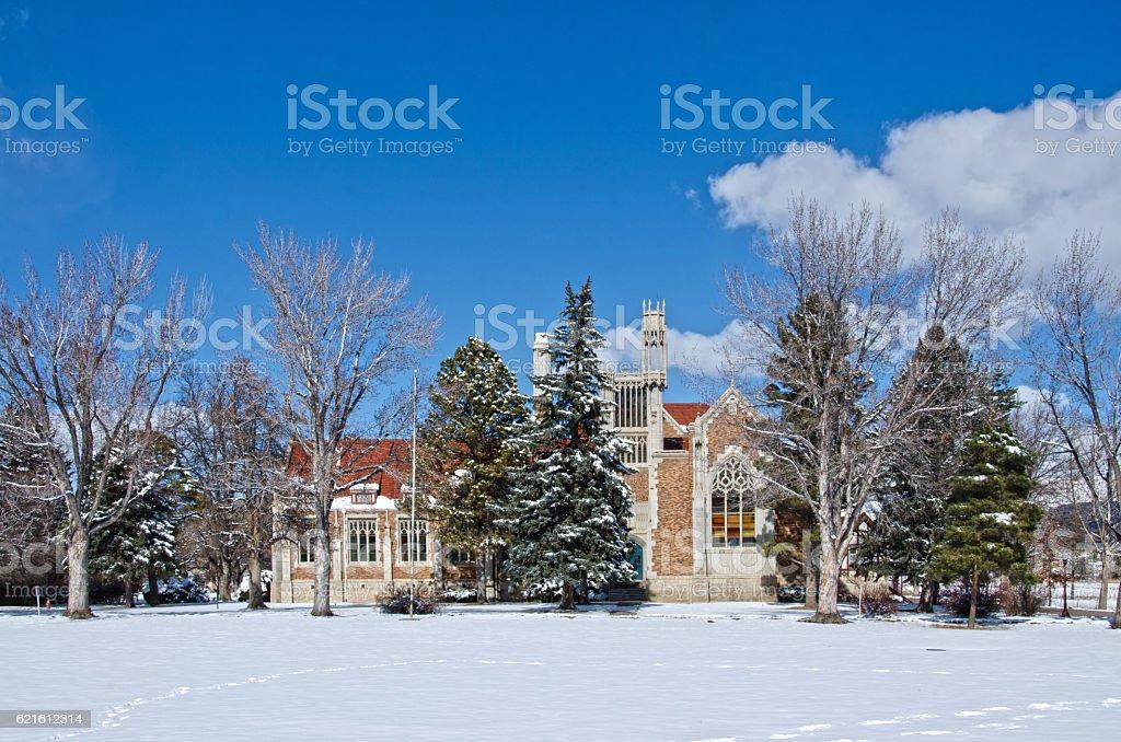Holy Cross Abbey in Canon City, Colorado stock photo