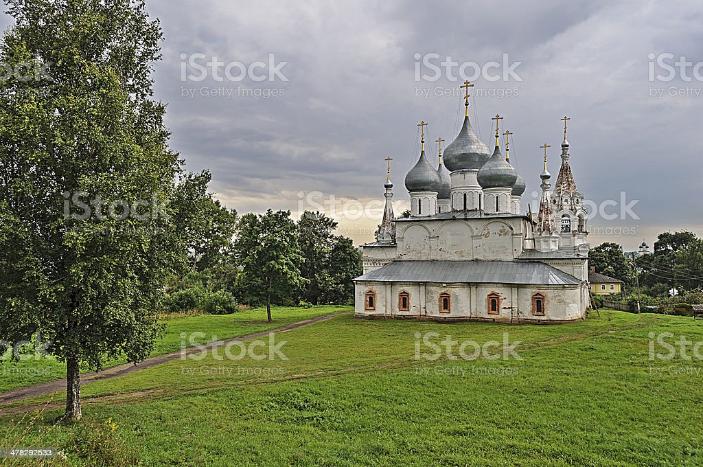 Holy Cross Cathedral in Tutaev royalty-free stock photo