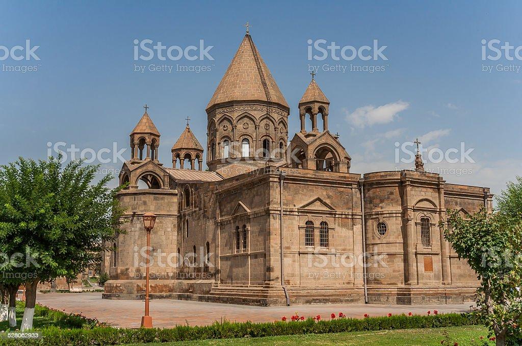 Holy Etchmiadzin church near Yerevan stock photo