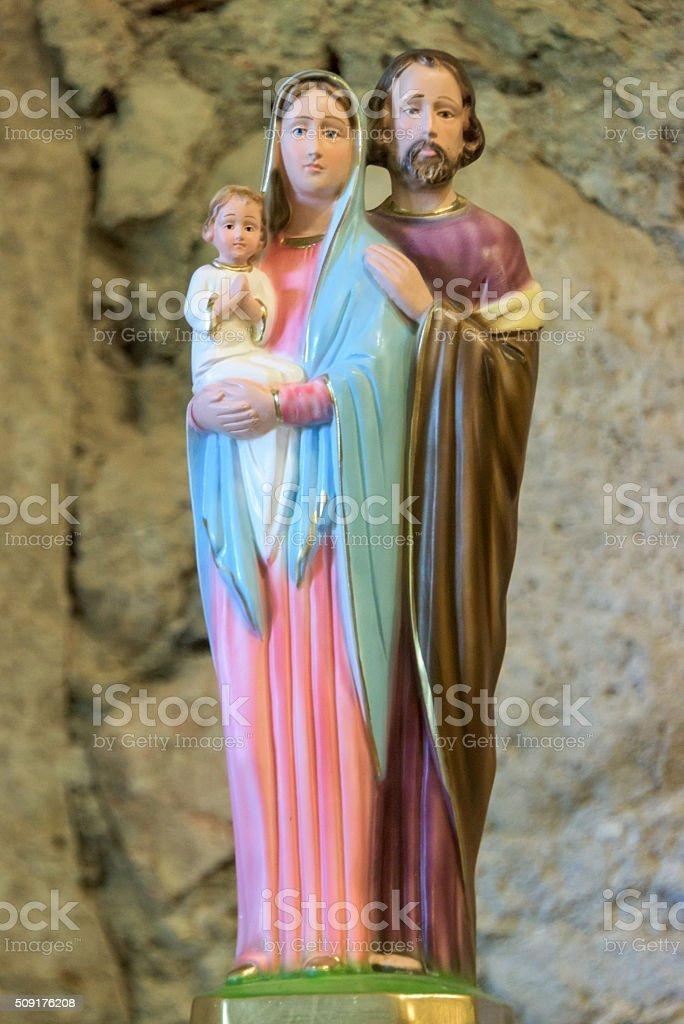 Holy family stock photo