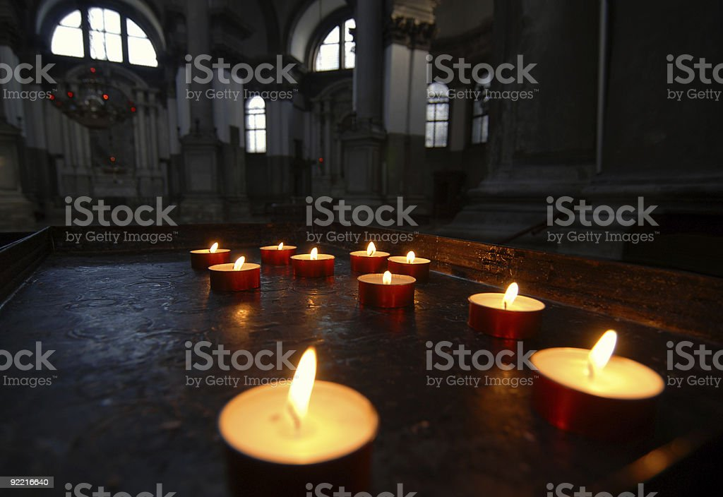 Holy flames royalty-free stock photo