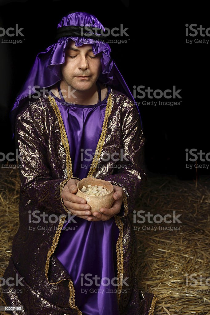 Holy Frankincense Offering stock photo