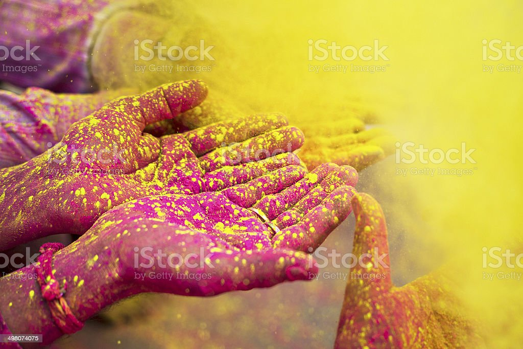 Holy hands stock photo