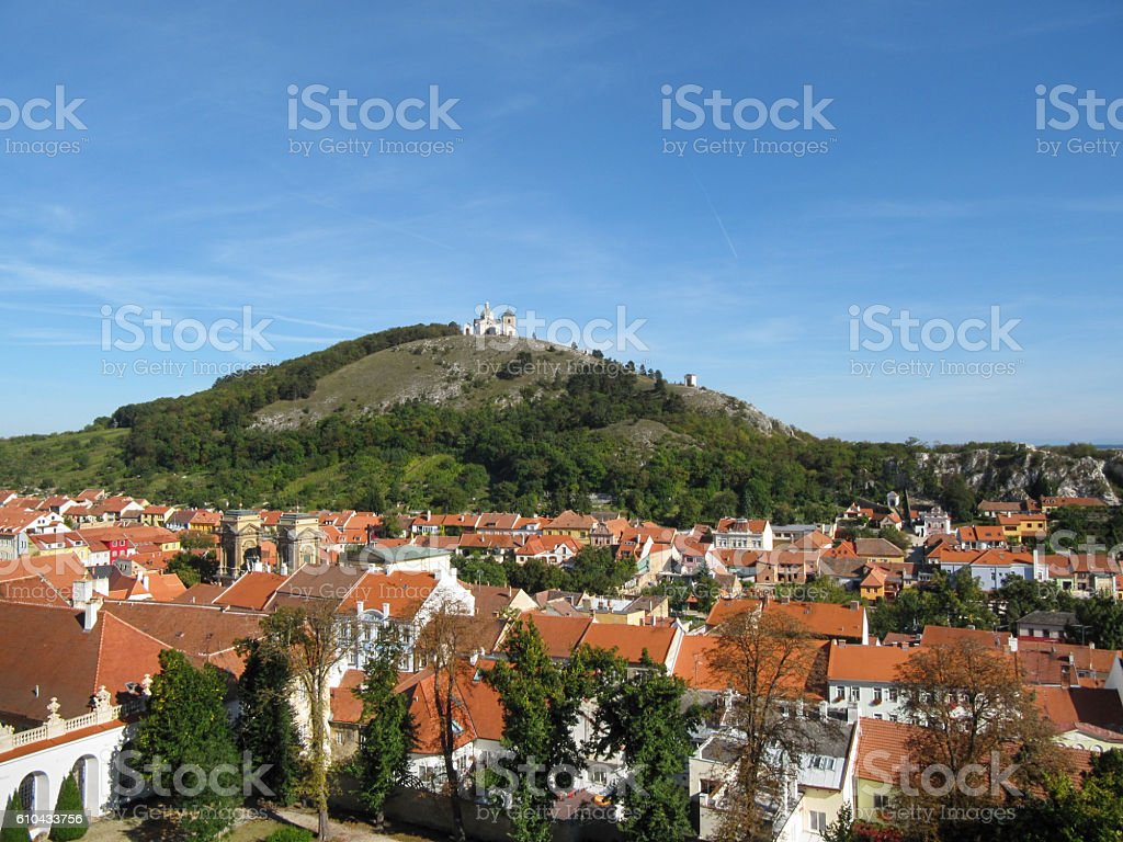 Holy Hill in Mikulov, South Moravia stock photo