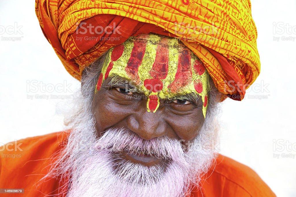 Holy Indian Sadhu royalty-free stock photo