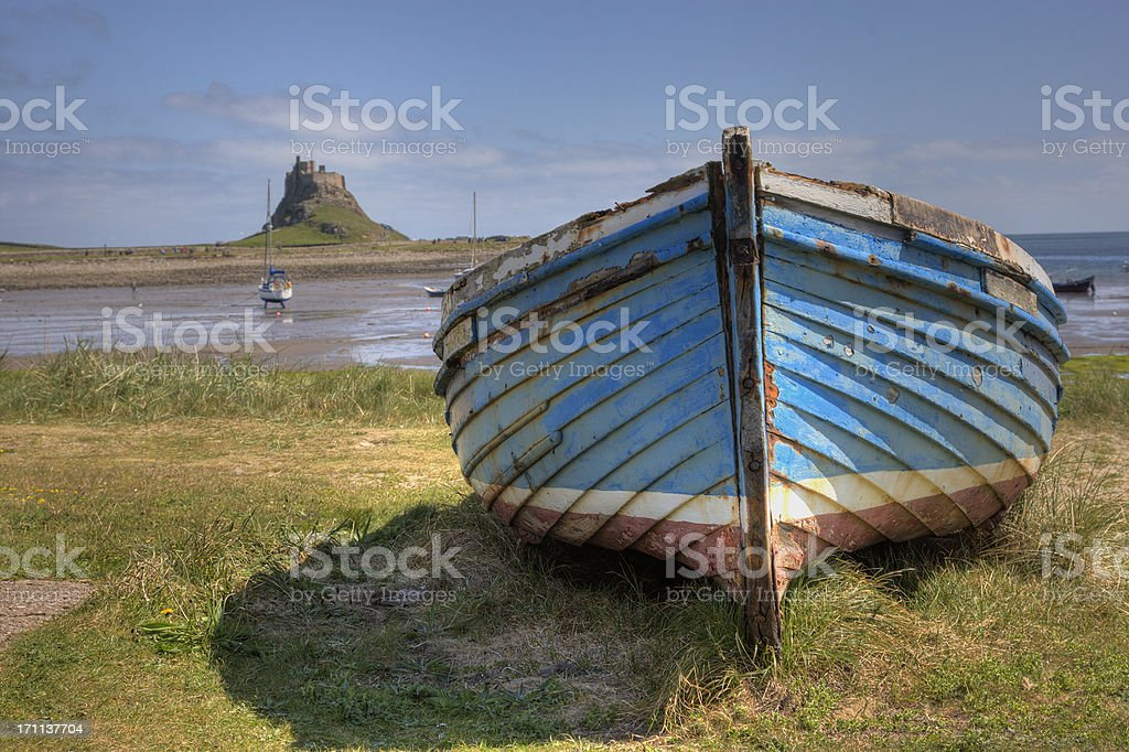 Holy Island Northumberland UK stock photo