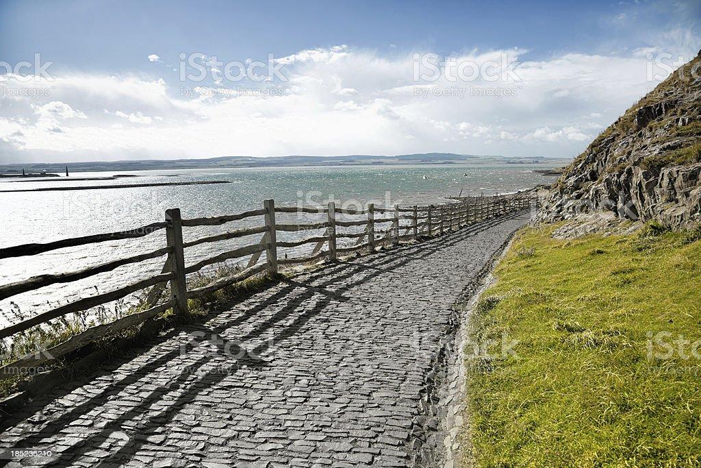 Holy Island Paved Winding Pathway royalty-free stock photo