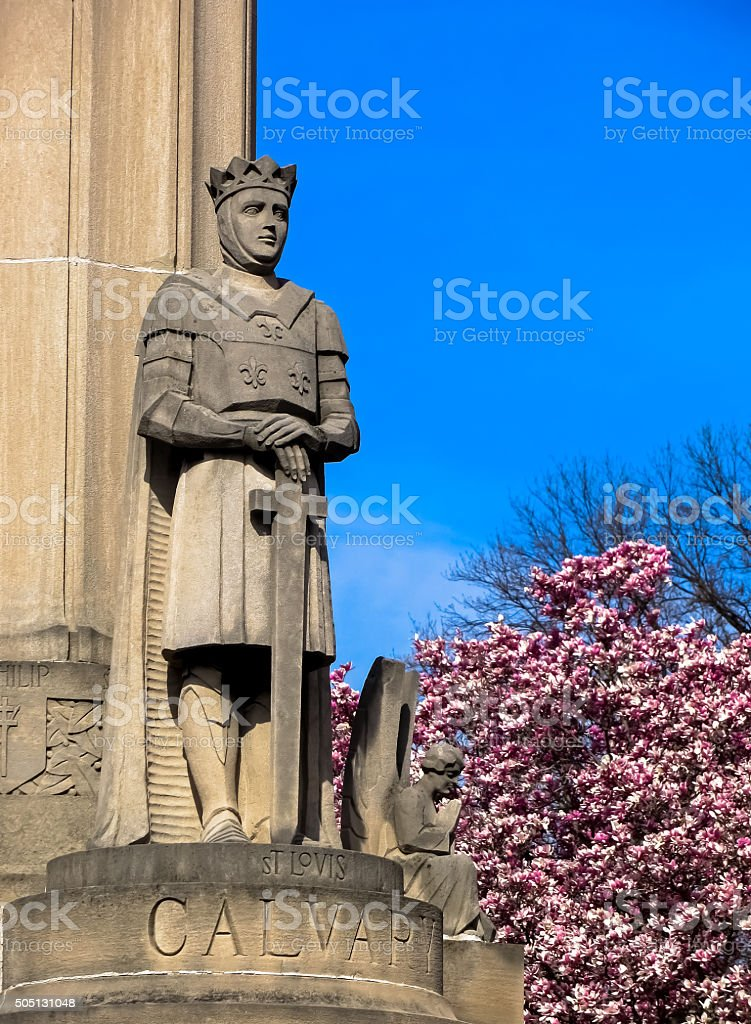 Holy Knight Calvary Cemetery Saint Louis, MO stock photo