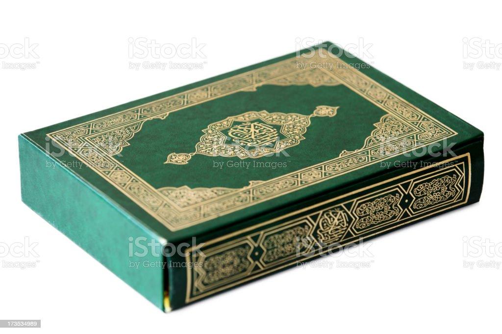 Holy Koran Book on white royalty-free stock photo