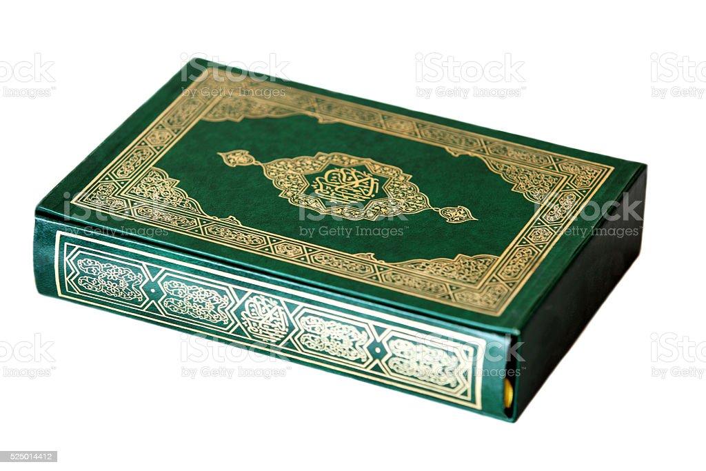 Holy Koran Book on white stock photo