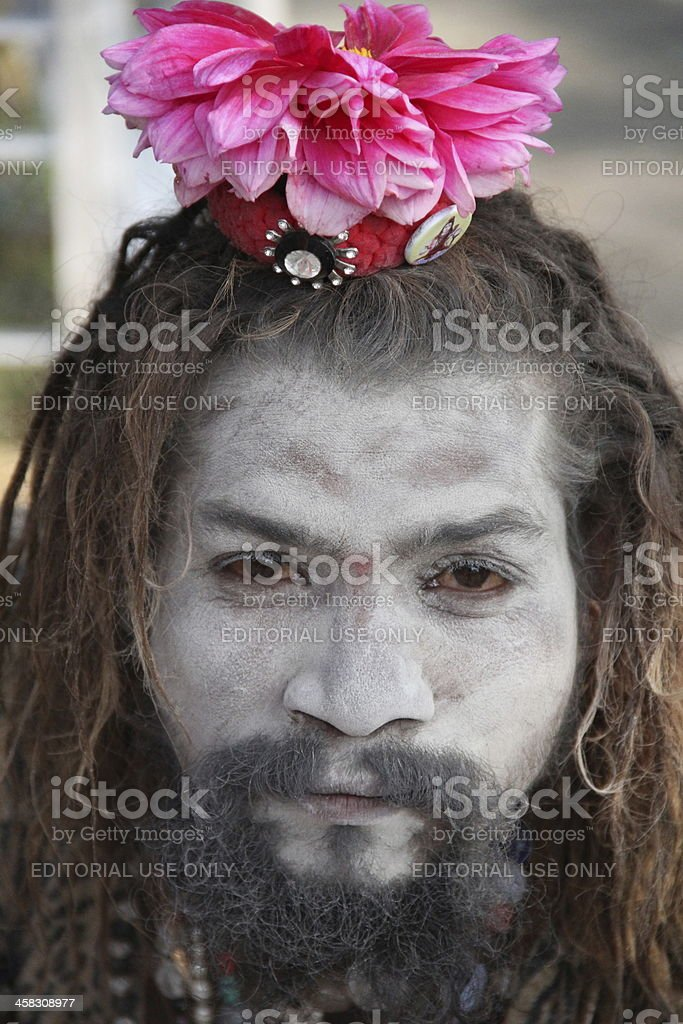 Holy Man-Nepal royalty-free stock photo