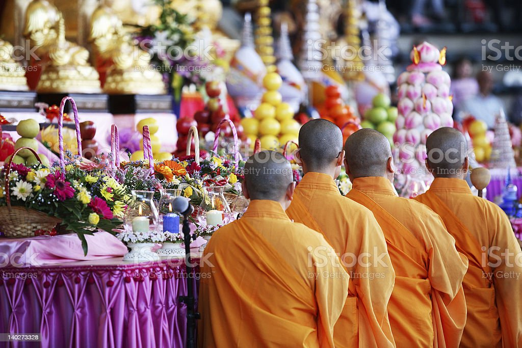 Holy Monks stock photo
