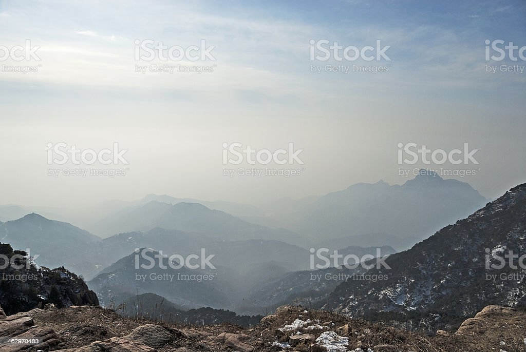 Holy Mount Tai Views stock photo