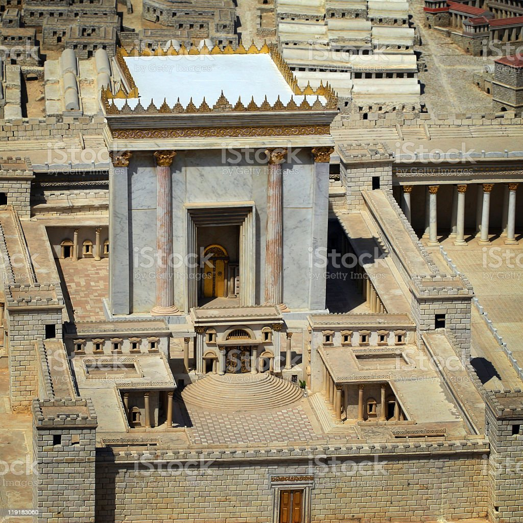 Holy of the Holies, Jerusalem model stock photo
