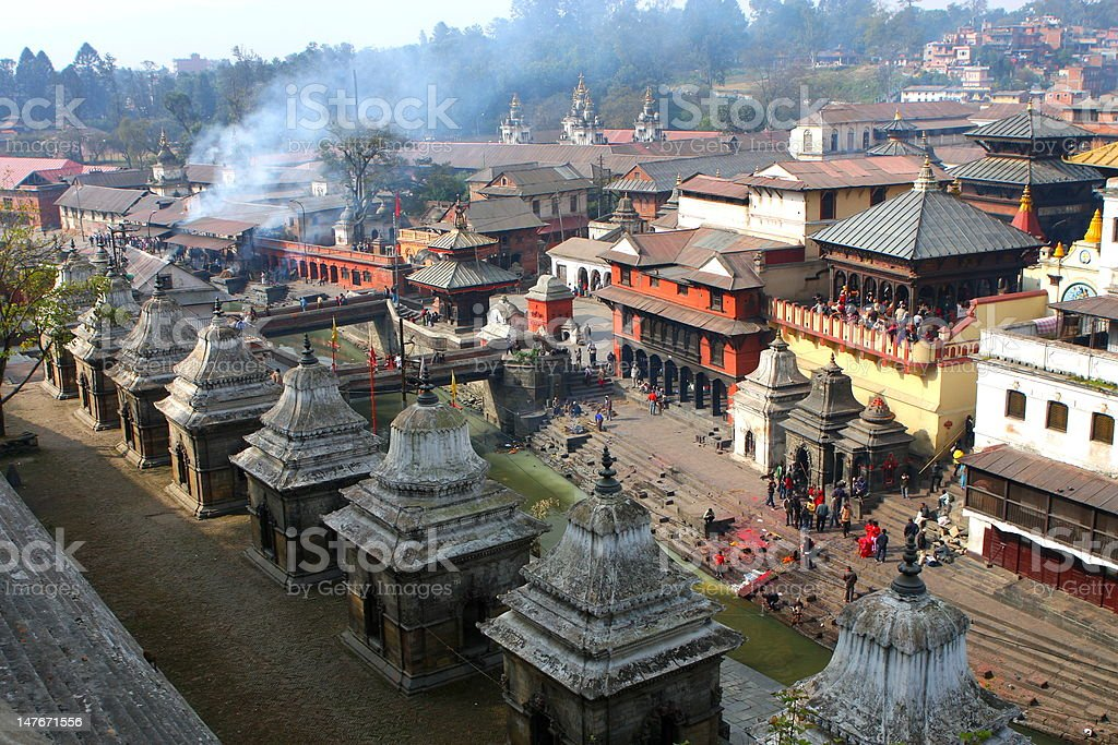 Holy Pashupatinath In Kathmandu Nepal stock photo