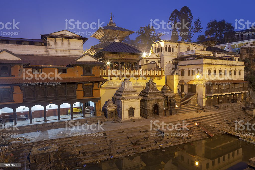 Holy Pashupatinath In Kathmandu Nepal. stock photo