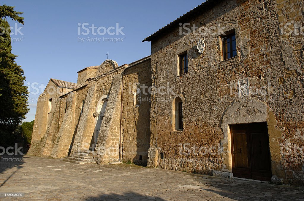 Holy Peter's and Paul's Cathedral in Sovana stock photo