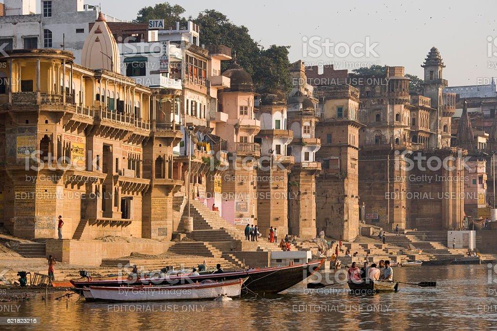 Holy River Ganges - Varanasi - India stock photo